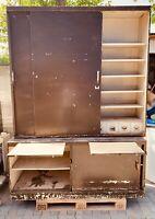 Alter Metall Werkstattschrank Loft shabby Chic industrial wohl 30er 180x250cm