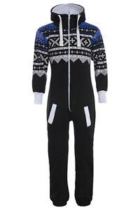 Mens Onsie1 unisex Jumpsuit Aztec Print Sleepwear pyjama one piece Aztec Print