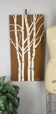 Vintage MARUSHKA Birch Trees Forest Woods Screen Print Nature Canvas Art