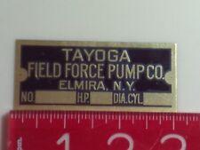 Tayoga Engine name tag Reproduction Nameplate