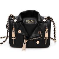 2019 European Fashion Design Handbag Jacket Style Women Leather Jacket Bag