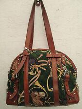 -AUTHENTIQUE  sac à main TOSCA BLU cuir et coton TBEG vintage bag