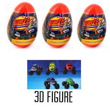NEW 3 Blaze and the Monster Machines surprise Eggs W/ 3D Figurine Per Egg