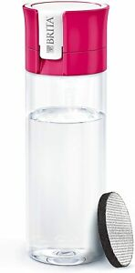 Brita Fill And Go Pink Vital Water Filter Bottle With Microdisc 600ml BPA Free