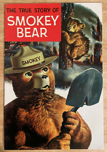Vintage The True Story of Smokey the Bear Promotional (1969, Western Publishing)