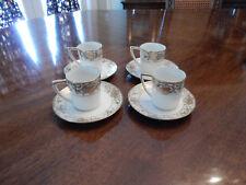 Antique Noritake Christmas Ball #175 - 2 Flat Demitasse Cups & Saucers