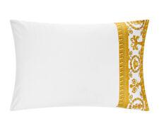 Versace Baroque Medusa King Size Pillow Case 2 pieces Set - White