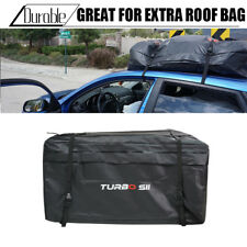 20 Cub Waterproof Roof Top Cargo Carrier For Luggage Travel Car Storage Bag BLK