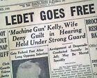 George MACHINE GUN KELLY Prohibition Era Gangster Captured 1933 Old Newspaper