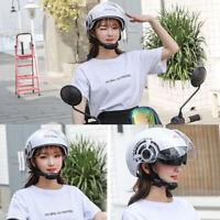White Motorcycle Helmet Half Face Dual Sun Visor Scooter Chopper Unisex Helmet
