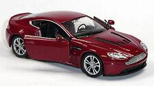 NEU: Modellauto ASTON MARTIN V12 VANTAGE dunkelrot ca. 11,7 cm Neuware v. WELLY