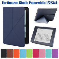 Funda de cuero ultra fina PU plegable Para Amazon Kindle Paperwhite 1/2/3/4 ES