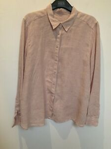 M&S - Ladies light pink pure linen shirt size 16 new no tags