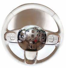 Original Lederlenkrad für Fiat 500 Lifting mit Multifunktion ohne Airbag wie Neu