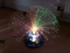 Vintage Trident Galaxy Fiber Optic Lamp Colour Changing