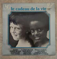 """33T LE CADEAU DE LA VIE Vinyle LP 12"""" ADAMO - BECAUD - DUTEUIL -PIAF -PINK FLOYD"""
