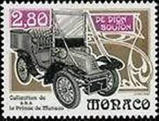 "MONACO STAMP TIMBRE 1942 "" VOITURE ANCIENNE DE DION BOUTON 1903"" NEUF xx LUXE"