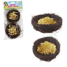 Easter Arts & Craft Decorations, Egg Decorating, Craft Kits - 2 Pack Craft Nests