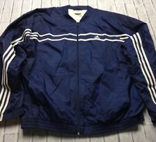 90s VTG ADIDAS BOMBER Navy Blue 3 STRIPES Windbreaker XL Jacket EQT Track OG