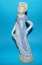 Nao by Lladro Figurine ' Lady with Bonnet and scarf ' 1st Quality 12""