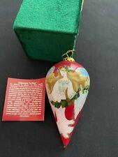 Pier 1 Li Bien Ornament Red Angel with Green Garland dated 2011