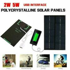 2W 5V Solar Panel USB Port Phone Charger Travel Portable NEW H2B8