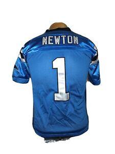 Reebok Cam Newton Carolina Panthers #1 Football Sewn Jersey Youth M (12-14)