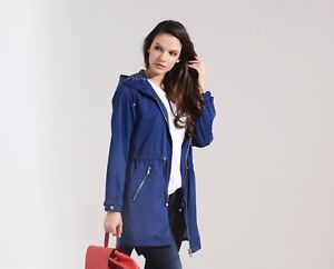 Charcoal Fashion Women's Navy Blue Water Resistant Light Weight Festival Parka