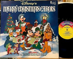 Walt Disney's Merry Christmas Carols LP Disneyland 2514 Mickey Mouse 12 Days VG+
