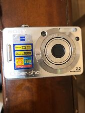 SONY Cyber Shot 7.2 mega pixels Camera, & 1 Gig Memory Chip