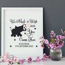 WE MADE A WISH PERSONALISED VINYL DECAL STICKER for FRAME BLOCK 15 x 15 cm