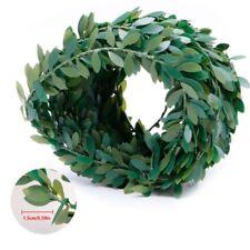 7m Artificial Leaf Iron Wire Rattan Plant Vine Leaves Wreath Wedding Home Decor