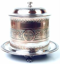 Tobacco Box. Silver Plated Copper. England(?). Xixth Century.