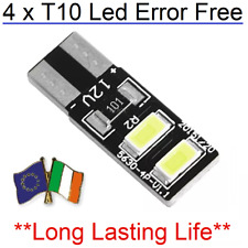 4x T10 w5w Canbus Error Free Led White Bulb HID 6000K 501 194 Parking side Light