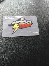 2016 Campbell River Storm TIM HORTONS BCHL HOCKEY GIFT CARD Very Rare