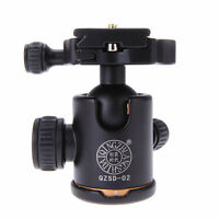 Aluminum Camera Tripod Ball Head Ballhead + Quick Release Plate for DSLR Camera