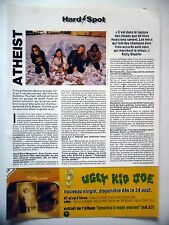 COUPURE DE PRESSE-CLIPPING :  ATHEIST  09/1993 Kelly Schaefer,Elements