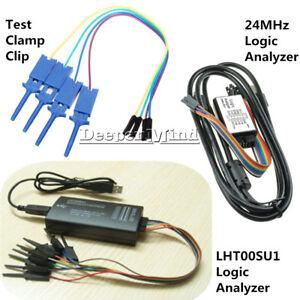 LHT00SU1 Virtual Oscilloscope USB Logic Analyzer Device I2C SPI 24MHz for M100