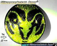 1*pcs Auto Metall Glitzer Plakette Aufkleber CrazyTuning019 >Einzelstück by Amor