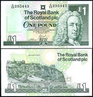 SCOTLAND 1 POUND 2001 P 351 UNC