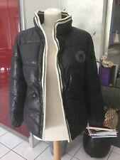 Doudoune parka BEL AIR taille 1(36/38) noir/gris foncé