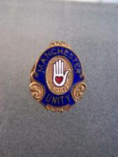 Manchester Unity button hole enamel badge          38