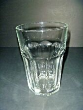 VINTAGE BARWARE - CLEAR GLASS TUMBLER - GLASS CUP - GREAT CONDITION OCTAGON