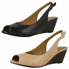 Clarks Wedge Peep Toe Shoes for Women