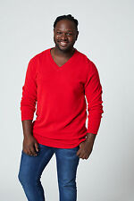 Huge&Great Custom Made V-neck Cashmere Sweater---design your own---Made in USA
