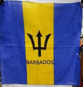 BARBADOS FLAG - WITH NAME - BANDANA - CARRIBEAN COUNTRY
