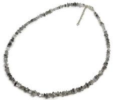 Herkimer diamond gemstone Bead Solid Sterling Silver Necklace, New. UK seller.