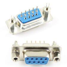 5Pcs D-SUB 9 Pin Female DIP PCB Connector Socket Adapter 2 Rows DB9F