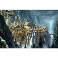 5D DIY Full Drill Diamond Painting Castle Mountain Cross Stitch Embroidery