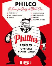 PHILLIES Art Poster of 1950 Scorecard - 8x10 Color Photo